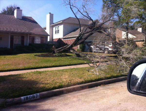 An iWitness user in northwest Houston captures the aftermath of a strong weather system that blew into southeast Texas on Christmas morning. <span class=meta>(KTRK Photo)</span>