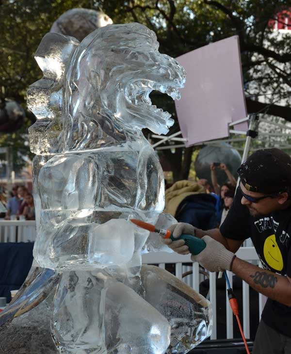 Photos from the 4th Annual Ice Sculpting Competition at Discovery Green <span class=meta>(KTRK&#47;Blanca Beltran)</span>