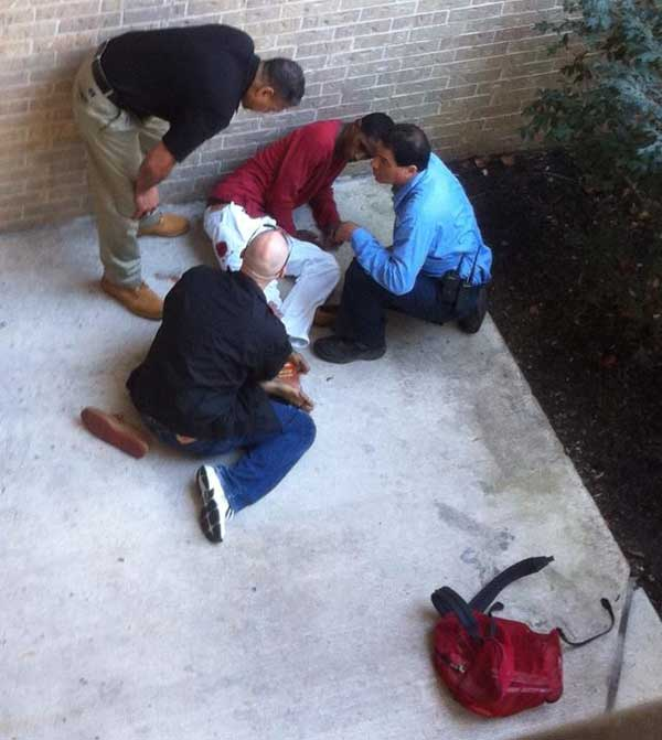 Shots were fired at Lone Star College just after lunch time  <span class=meta>(Viewer photo)</span>