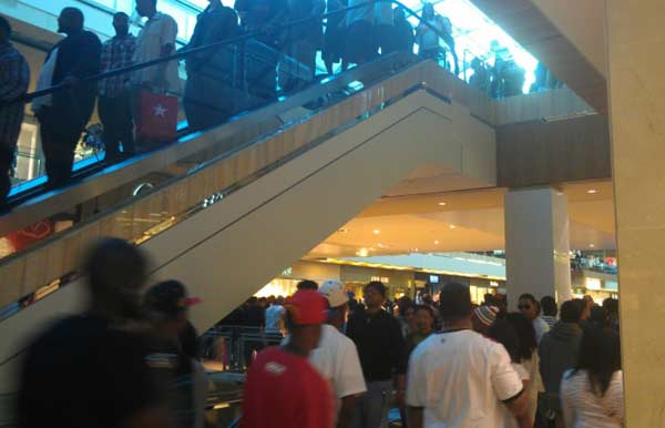 An iWitness user documents the massive crowds at the Houston Galleria. The overcrowding prompted officials to close down the mall early as a precaution  on Saturday. <span class=meta>(iWitness)</span>