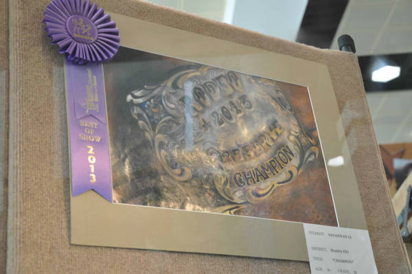 Many students from different school districts had their Houston Livestock Show and Rodeo art work displayed at the Reliant Center. <span class=meta>(Photo&#47;ABC-13)</span>