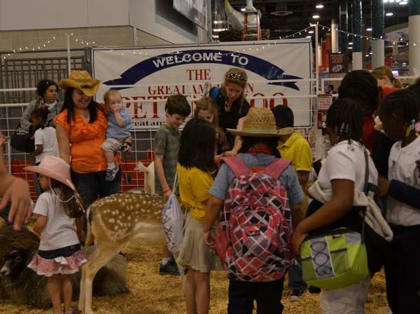 The Houston Livestock Show and Rodeo has a kid-focused area that offers fun for all with a petting zoo, vendors, livestock, the antique double carousel, the kid&#39;s carnival and so much more. <span class=meta>(KTRK&#47;Blanca Beltran)</span>