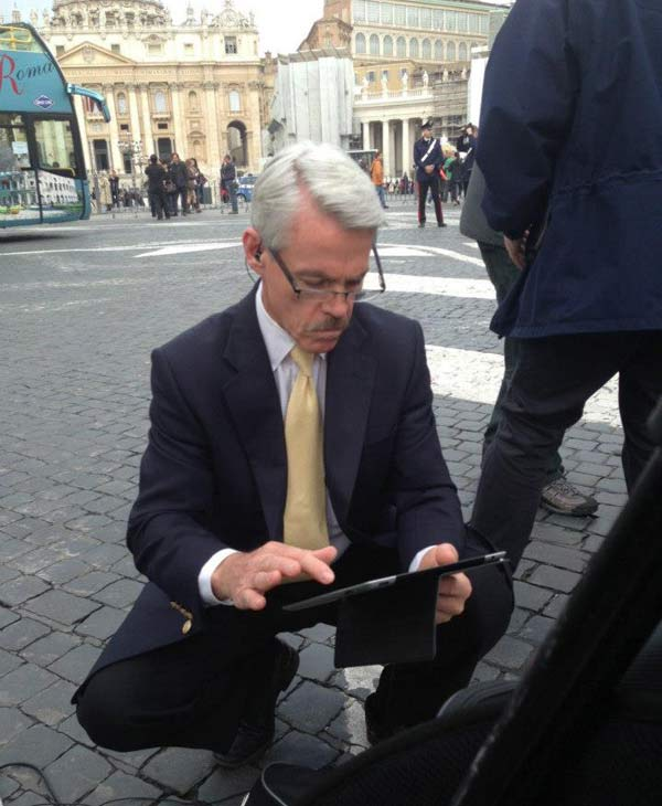 "<div class=""meta ""><span class=""caption-text "">The ABC13 crew in Rome working to bring us the very latest on the papal conclave and behind the scenes from the Vatican. (Willie Dixon)</span></div>"