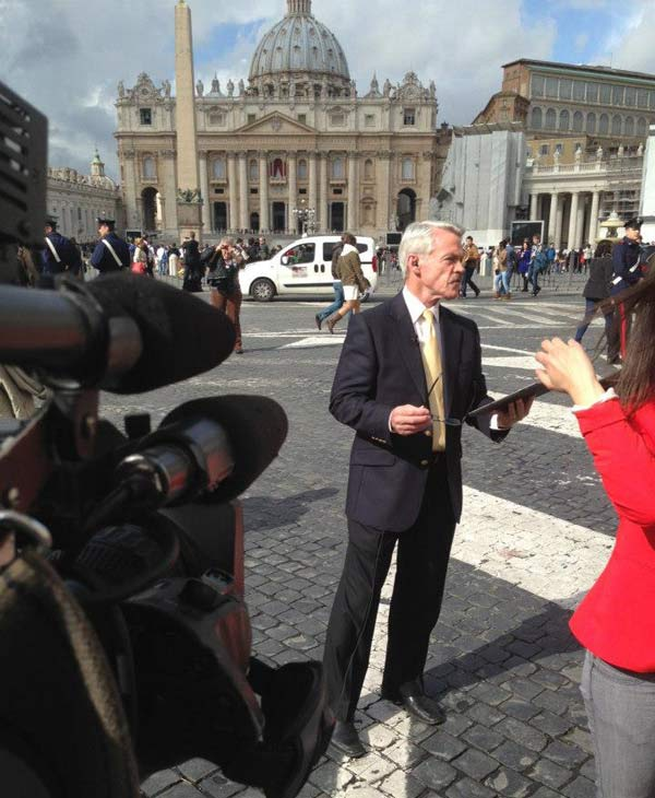 The ABC13 crew in Rome working to bring us the very latest on the papal conclave and behind the scenes from the Vatican. <span class=meta>(Willie Dixon)</span>
