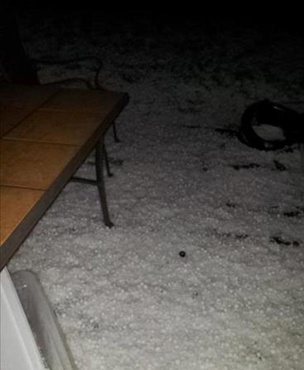 Check out some of the photos you sent in from the hail that hit southeast Texas Wednesday morning <span class=meta>(iWitness photo)</span>