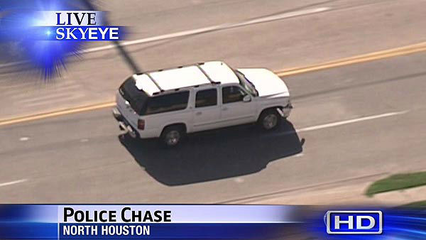 Police chased a suspect across Houston during a high speed rush hour pursuit <span class=meta>(KTRK Photo)</span>