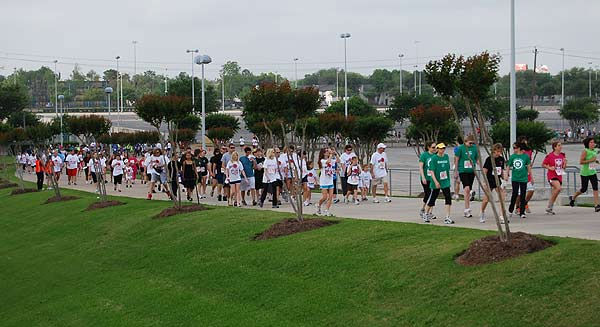 Thousands of participants came out to the 2011 Run for the Rose at Reliant Park on Sunday, April 10.  Proceeds benefit the Dr. Marnie Rose Foundation, supporting brain cancer research.
