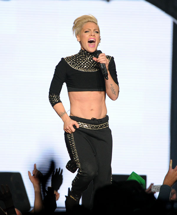 Singer Pink was ranked tenth on the 2013 World&#39;s Most Beautiful list.  To see the full list log onto People.com <span class=meta>(AP Photo)</span>