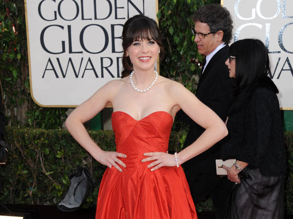 Singer and actress Zooey Deschanel is No. 4 on the 2013 World&#39;s Most Beautiful list.  To see the full list log onto People.com <span class=meta>(AP Photo)</span>