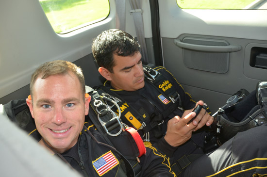 "<div class=""meta image-caption""><div class=""origin-logo origin-image ""><span></span></div><span class=""caption-text"">ABC-13 Meteorologist Casey Curry took part of a tandem jump with the US Army Golden Knights.  Several others also took the training class before they took the plunge with the elite parachuting team.  ( ABC-13)</span></div>"