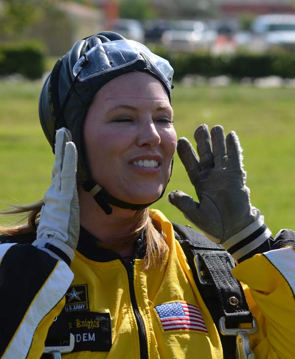 ABC-13 Meteorologist Casey Curry took part of a tandem jump with the US Army Golden Knights.  Several others also took the training class before they took the plunge with the elite parachuting team.  <span class=meta>( )</span>
