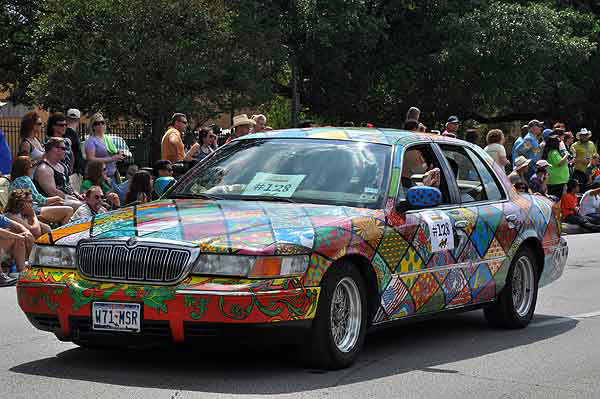More than 250 entries took to the streets in Houston&#39;s 26th Annual Art Car Parade, billed as the city&#39;s largest free public art event.  Designs of all shapes and sized amazed and delighted the crowd on Saturday, May 11, 2013. <span class=meta>(KTRK Photo)</span>