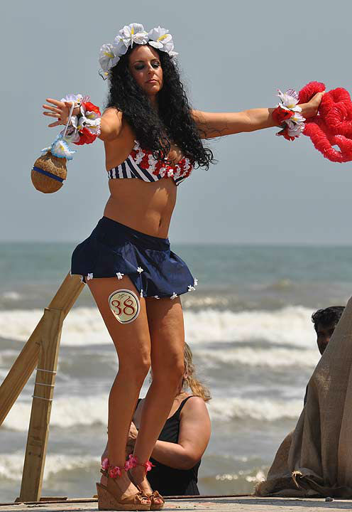 "<div class=""meta ""><span class=""caption-text "">The Galveston Island Bathing Beauties Revue was held on Armed Forces Day, Saturday, May 18, 2013.  Honoring our service men and women, as well as the history of Galveston Island, 40 contestants graced the beach in their vintage swimwear.  The annual event highlighted the weekend-long Galveston Island Beach Revue activities, celebrating the history of the island, while having fun in the sun! (KTRK Photo)</span></div>"