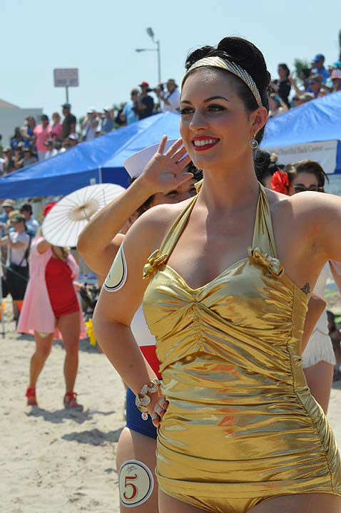 The Galveston Island Bathing Beauties Revue was held on Armed Forces Day, Saturday, May 18, 2013.  Honoring our service men and women, as well as the history of Galveston Island, 40 contestants graced the beach in their vintage swimwear.  The annual event highlighted the weekend-long Galveston Island Beach Revue activities, celebrating the history of the island, while having fun in the sun! <span class=meta>(KTRK Photo)</span>
