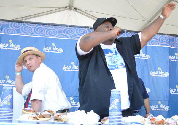 These are photos from the sixth annual Niko Niko&#39;s World Gyro Eating Championship Sunday, May 19, 2013, at the Greek Festival in west Houston.  Top-ranked competitive eater Joey Chestnut won with 22 1&#47;4 gyros consumed in 10 minutes.  Second place was Matt Stonie. <span class=meta>(Photo&#47;ABC13)</span>