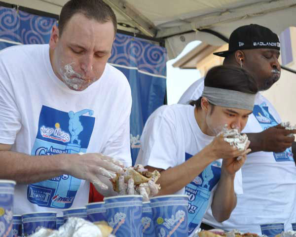 "<div class=""meta image-caption""><div class=""origin-logo origin-image ""><span></span></div><span class=""caption-text"">These are photos from the sixth annual Niko Niko's World Gyro Eating Championship Sunday, May 19, 2013, at the Greek Festival in west Houston.  Top-ranked competitive eater Joey Chestnut won with 22 1/4 gyros consumed in 10 minutes.  Second place was Matt Stonie. (Photo/ABC13)</span></div>"
