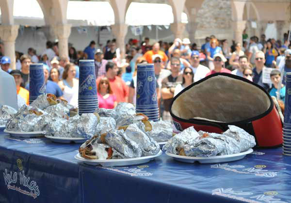 "<div class=""meta ""><span class=""caption-text "">These are photos from the sixth annual Niko Niko's World Gyro Eating Championship Sunday, May 19, 2013, at the Greek Festival in west Houston.  Top-ranked completitive eater Joey Chestnut won with 22 1/4 gyros consumed in 10 minutes.  Second place was Matt Stonie. (Photo/ABC13)</span></div>"