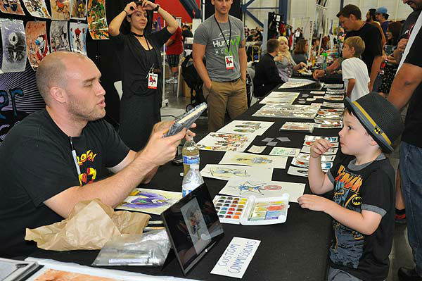 "<div class=""meta ""><span class=""caption-text "">Comicpalooza, held May 24-26, 2013, at the George R. Brown Convention Center, is a multi-format convention celebrating not just comics, but also sci-fi and fantasy, horror, steam punk, New Media, movies, film, and gaming of all types.  Fans of all ages honored their favorites in style! (KTRK Photo)</span></div>"