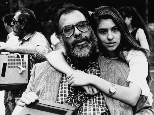 Francis Coppola with his daughter Sofia Coppola in 1989 during one of her famous father&#39;s rare visits, Zoe &#40;Heather McComb&#41; enjoys listening to stories about his life as a world-class musician in a scene from &#34;Life without Zoe,&#34; one of the segments in the new Touchstone release, New York Stories. Below: &#34;Life without Zoe&#34; is directed by Francis Coppola &#40;left&#41; and co-written by Coppola and his daughter Sofia &#40;right&#41;. The producers are Fred Roos and Fred Fuchs. Talia Shire also stars. A Touchstone Pictures presentation of a Jack Rollins and Charles H. Joffe Production, New York Stories is directed by Martin Scorsese, Francis Coppola and Woody Allen and stars Allen, Rosanna Arquette, Mia Farrow, Giancarlo Giannini, Julie Kavner, Nick Nolte and Talia Shire. Written by Richard Price, Francis Coppola and Sofia Coppola and Woody Allen, the segment producers are Barbara De Fina, Fred Roos and Fred Fuchs, and Robert Greenhut. The producer is Robert Greenhut. Buena Vista distributes. Location is not given. &#40;AP Photo&#41;  <span class=meta>(AP Photo)</span>