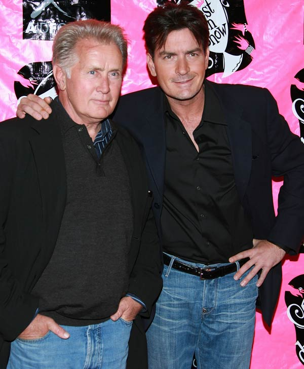 Actor Martin Sheen and actor Charlie Sheen arrive at the 5th Annual Best In Drag Show FUNdraiser for Aid for AIDS at the Orpheum Theater on October 14, 2007 in Los Angeles, California. &#40;Photo by Jordan Strauss&#47;Invision&#47;AP Images&#41; <span class=meta>(AP Photo)</span>