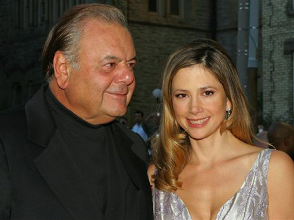 Actress Mira Sorvino and her father Paul Sorvino attend the premiere of &#34;Reservation Road&#34; during the Toronto International Film Festival in Toronto, Thursday, Sept. 13, 2007. &#40;AP Photo&#47;Kathleen Voege&#41;  <span class=meta>(AP Photo)</span>