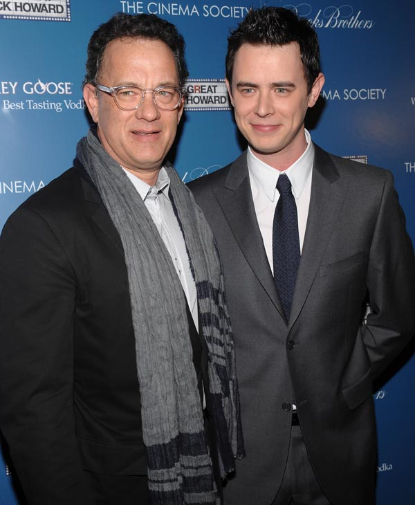 "<div class=""meta ""><span class=""caption-text "">Actor Tom Hanks, left, and his son actor Colin Hanks attend a special screening of 'The Great Buck Howard' on Tuesday, March 10, 2009 in New York. (AP Photo/Evan Agostini) (AP Photo)</span></div>"