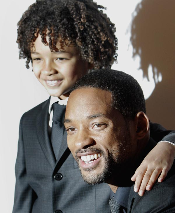 U.S. actor Will Smith, right, poses with his son Jaden Christopher Syre Smith before the French premiere of the film &#34;The Pursuit of Happyness&#34; in Paris, Wednesday, Jan. 10, 2007. &#40;AP Photo&#47;Christophe Ena&#41; <span class=meta>(AP Photo)</span>