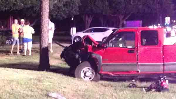 One person died and three others were injured in a multiple-vehicle crash in northwest Harris County, and officials say alcohol was involved. | Photos submitted by an ABC13 viewer <span class=meta>(Photo&#47;iWitness Reports)</span>