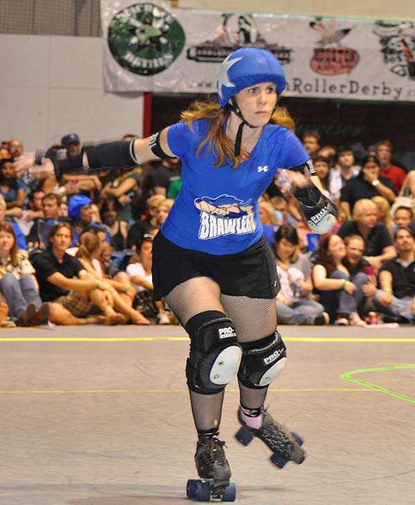 The Houston Roller Derby heated up the rink at...