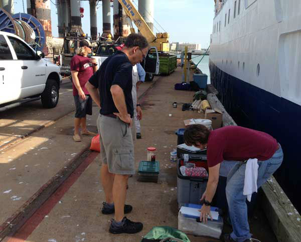 Artifacts were brought in to Gavleston Thursday from a ship that was at the bottom of the Gulf of Mexico 170 miles off the coast of Galveston. <span class=meta>(Photo&#47;ABC13)</span>