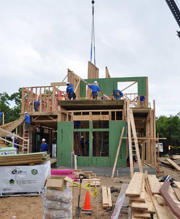 "<div class=""meta ""><span class=""caption-text "">On July 28, 2010 the rebuilding continues for a family's home in southeast Houston as part of the taping of ABC's 'Extreme Makeover: Home Edition.'  The local builders working with the show are still looking for volunteers.  Get details if you're interested in helping.</span></div>"