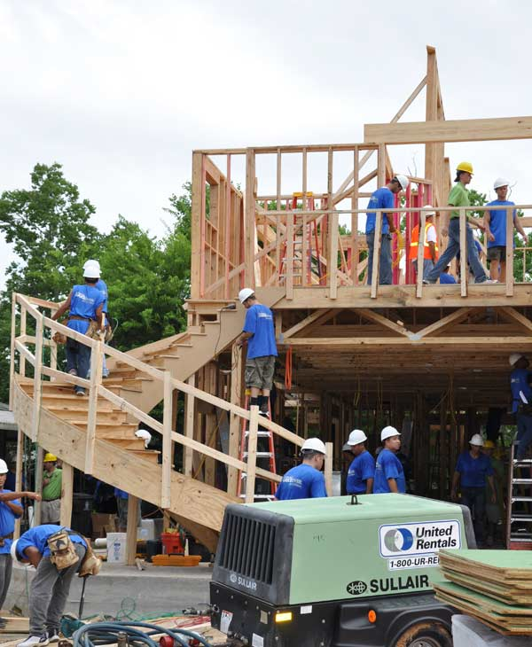 On July 28, 2010 the rebuilding continues for a family's home in southeast Houston as part of the taping of ABC's 'Extreme Makeover: Home Edition.'  The local builders working with the show are still looking for volunteers.  Get details if you're interested in helping.