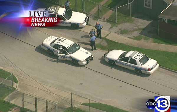 These are photos from Sky Eye HD of the pursuit that unfolded across the Houston  area Thursday afternoon  <span class=meta>(Photo&#47;ABC13)</span>