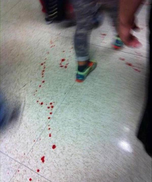 This photo is from inside the school where a stabbing incident took place.  It was submitted to us by one of iWitness viewers.  If you see news, send your pics to news@abc13.com.