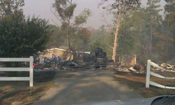 "<div class=""meta ""><span class=""caption-text "">Resident John Burton took photos of the destruction left behind after a wildfire tore through his Magnolia area neighborhood. (John Burton)</span></div>"