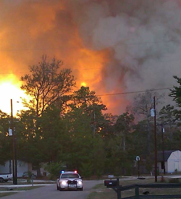 An iWitness viewers snapped this picture of the wildfire in Magnolia on September 7