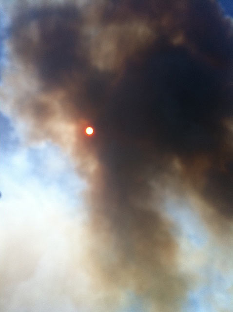 Latest flare up at about 2:30pm Friday &#40;9&#47;9&#47;11&#41;  that&#39;s forcing more mandatory evacuations in Montgomery County. <span class=meta>(Andy Cerota)</span>