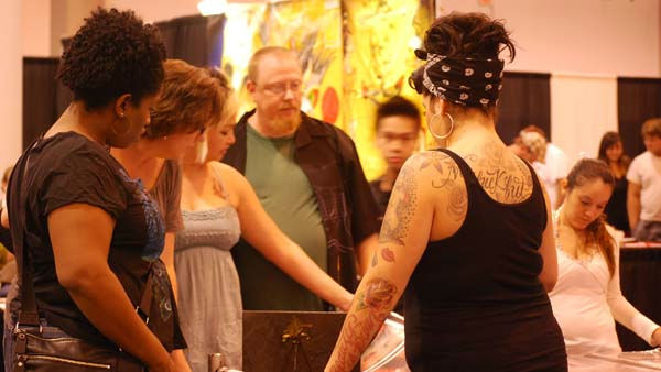 "<div class=""meta ""><span class=""caption-text "">The 2011 Body Art Expo -- the world's largest tattoo expo, and a ""gigantic skin show-off party"" -- was at Reliant Center on September 16-18 (KTRK Photo/ Kristy Gillentine)</span></div>"