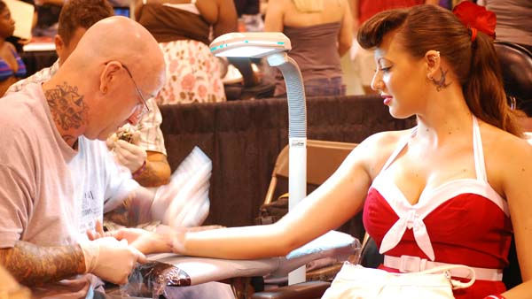 "The 2011 Body Art Expo -- the world's largest tattoo expo, and a ""gigantic skin show-off party"" -- was at Reliant Center on September 16-18"