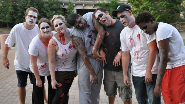 "<div class=""meta image-caption""><div class=""origin-logo origin-image ""><span></span></div><span class=""caption-text"">Zombies took over downtown Houston for a good cause on Saturday, September 24, 2011. The Houston Zombie Walk at Jones Paza raised funds for the Texas Wildfire Relief Fund and Wildlife Rehabilitation. (KTRK Photo/ Kristy Gillentine)</span></div>"