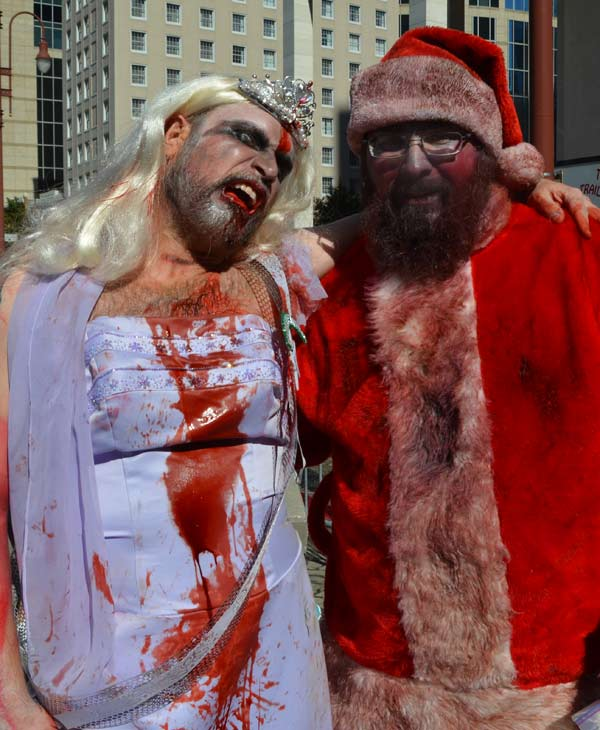 Downtown Houston was invaded by zombies this weekend.  It was all part of a fundraising effort by the Houston Zombie Walk to benefit the Houston Children&#39;s Charity, the Houston Humane Society and the Dove Key Ranch Wildlife Center. <span class=meta>(ABC13&#47;Blanca Beltran)</span>