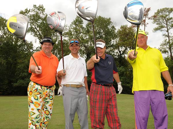We just learned that the Bad Pants Open raised another &#36;340K this year for the Texas Children&#39;s Hospital Newborn Center, bringing the total to date to &#36;2 million!  These are just some of the fashions that were on display. <span class=meta>(Allen Kramer for Texas Children&#39;s Hospital)</span>
