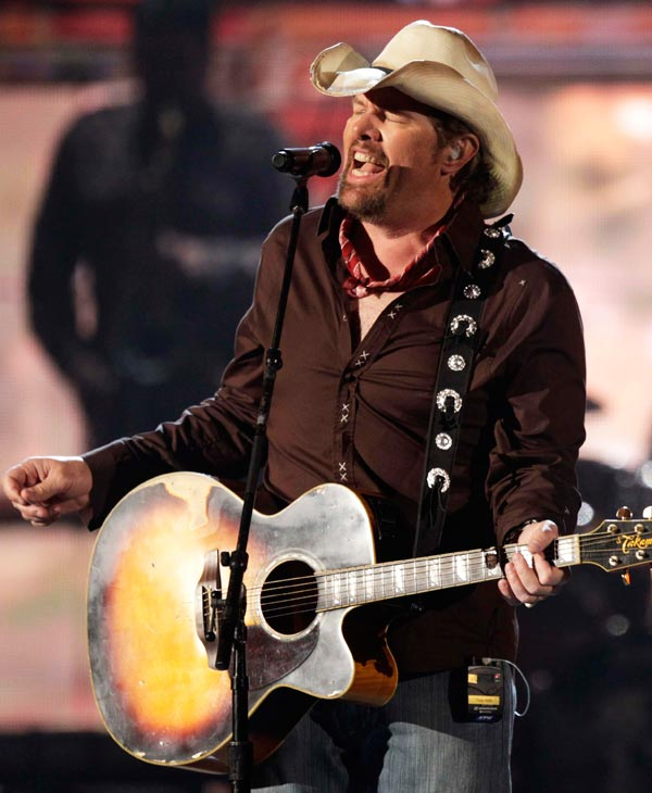 Toby Keith will kick off the Houston Livestock Show and Rodeo on Monday, Feb. 25, 2013. <span class=meta>(AP Photo)</span>