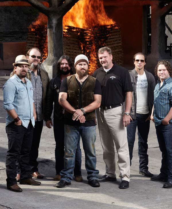 Jack Daniel's and Zac Brown Band announce major partnership. Jack Daniel's Master Distiller Jeff Arnett pictured with ZBB. (PRNewsFoto/Jack Daniel's)