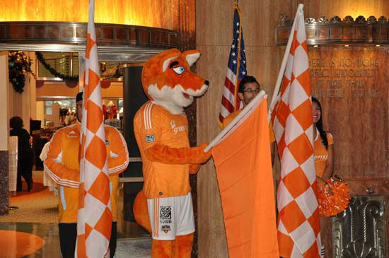 A rally was held for the Dynamo team at City Hall Friday, November 9, 2012.  The Dynamo advanced to the Eastern Conference finals this Sunday at BBVA Compass Stadium against DC United. <span class=meta>(Photo&#47;ABC-13)</span>