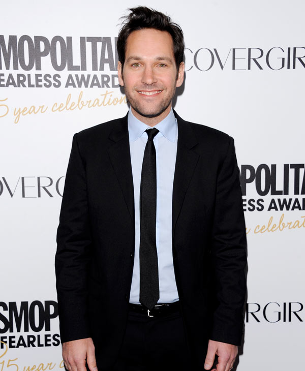 "Actor and honoree Paul Rudd attends Cosmopolitan Magazine's ""Fun Fearless Males and Females of 2012"" awards at the Mandarin Oriental on Monday, March. 5, 2012 in New York. (AP Photo/Evan Agostini)"