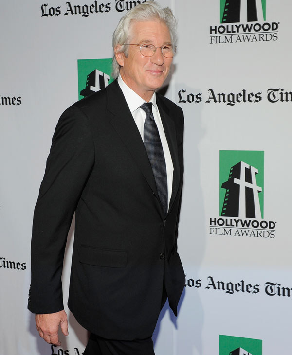 Richard Gere, recipient of the Hollywood Career Achievement Award, arrives at the 16th Annual Hollywood Film Awards Gala on Monday, Oct. 22, 2012, in Beverly Hills, Calif. (Photo by Chris Pizzello/Invision/AP)