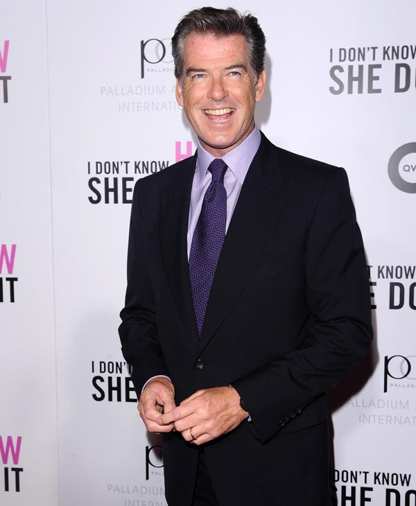 "Sexiest Man Alive 2001:  Actor Pierce Brosnan attends the Cinema Society premiere of ""I Don't Know How She Does It"", in New York, on Monday, Sept. 12, 2011. (AP Photo/Peter Kramer)"