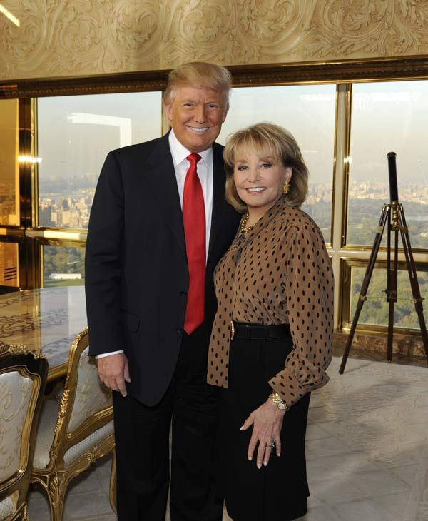 Now in it&#39;s 19th season, &#34;Barbara Walters Presents: The 10 Most Fascinating People of 2011&#34; will air as a 90 minute ABC News special highlighting some of the year&#39;s most prominent names in entertainment, sports and popular culture on WEDNESDAY, DECEMBER 14 &#40;8:30-10pm, CT&#41;, on the ABC Television Network. &#40;ABC&#47; DONNA SVENNEVIK&#41; DONALD TRUMP, BARBARA WALTERS  <span class=meta>(ABC)</span>