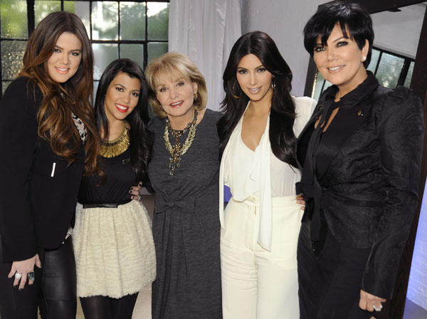 "<div class=""meta ""><span class=""caption-text ""> Now in it's 19th season, ""Barbara Walters Presents: The 10 Most Fascinating People of 2011"" will air as a 90 minute ABC News special highlighting some of the year's most prominent names in entertainment, sports and popular culture on WEDNESDAY, DECEMBER 14 (8:30-10pm, CT), on the ABC Television Network. (ABC/ DONNA SVENNEVIK) KHLOE KARDASHIAN, KOURTNEY KARDASHIAN, BARBARA WALTERS,KIM KARDASHIAN, KRIS JENNER (ABC)</span></div>"